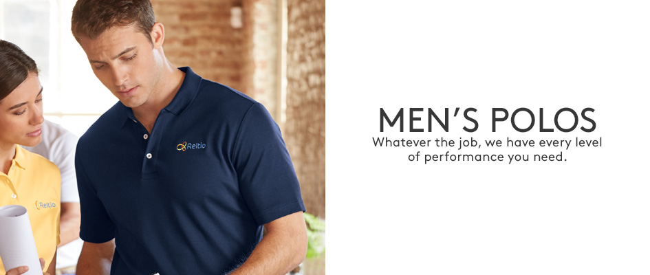 Embroidered polo shirts mens custom polos pima active for Lands end logo shirts