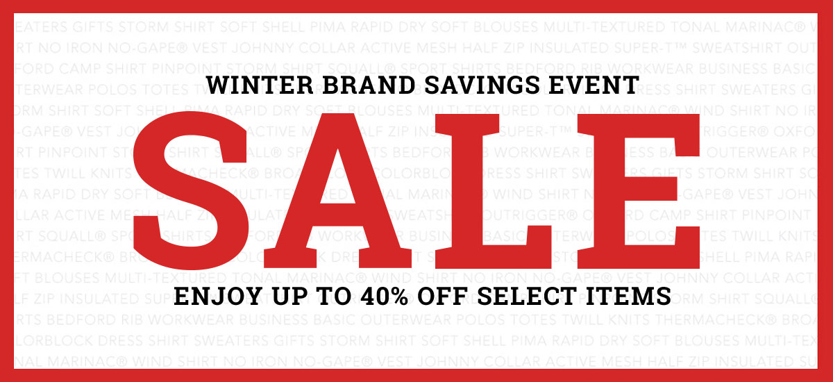 Winter Sale! Enjoy up to 40% off!
