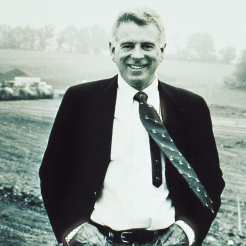 A black and white photograph of our founder: Gary Comer.
