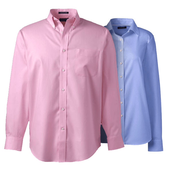 Men No Iron Broadcloth Shirt