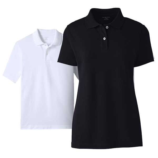 Women Basic Mesh Polo Shirt