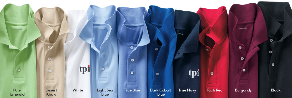 A laydown of shirts in the colors you can count on.